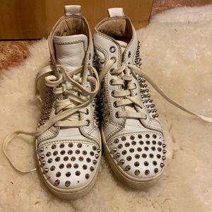 Christian Louboutin Flat Calf Spike Sneakers